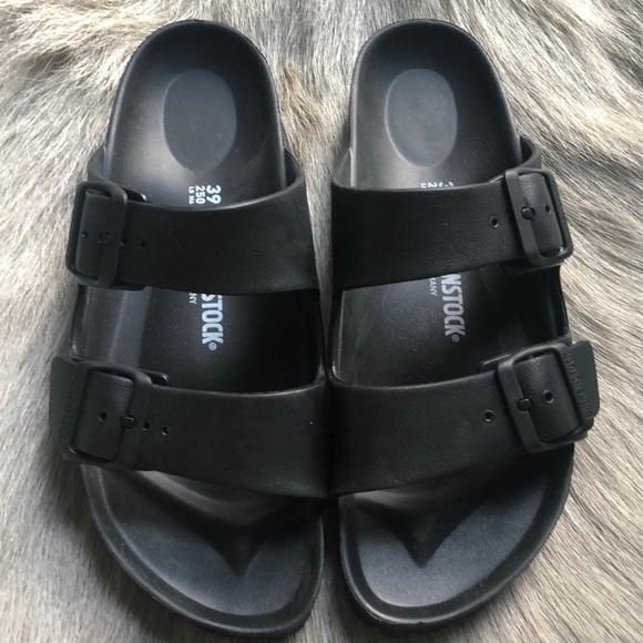 Black Pool Sandals Arizona 39 Narrow